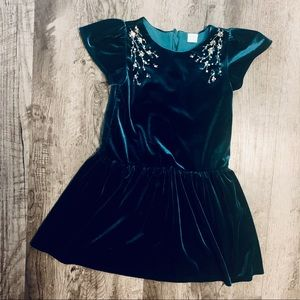 Edgehill Collection Green Velvet Dress Size 6 X